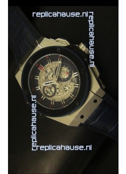 Hublot Big Bang King Steel Skeleton Dial Watch Swiss Quartz 45MM