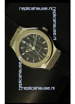 Hublot Classic Fusion 39MM Steel Case Watch Carbon Dial