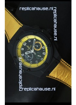 Hublot Big Bang Yellow Skeleton Swiss Quartz Watch 45MM