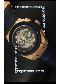 Hublot Big Bang King Rose Gold Skeleton Dial Watch Swiss Quartz 45MM