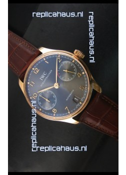 IWC Portugieser IW500702 Swiss Automatic Watch in Grey Dial - Updated 1:1 Mirror Replica