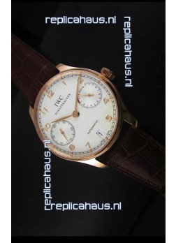 IWC Portugieser IW500701 Swiss Automatic Watch in White Dial - Updated 1:1 Mirror Replica