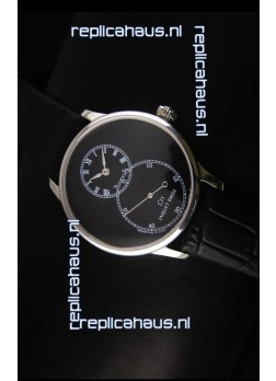 Jaquet Droz Grande Seconde Black Enamel Stainless Steel Case Watch in Black Dial