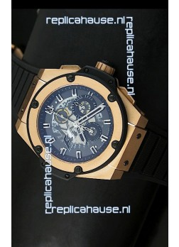 Hublot Big Bang King Power Formula 1 Swiss Watch in Pink Gold Case