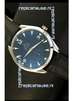Omega Seamaster Railmaster Japanese Replica Watch in Black Leather Strap
