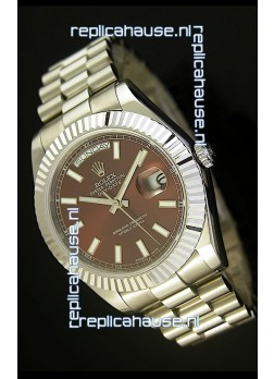 Rolex Day Date II 41MM Swiss Replica Watch - Green Dial - 1:1 Mirror Replica Watch