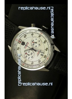 Tag Heuer Carrera Calibre 36 Flyback White Dial Replica Watch - Quartz Movement