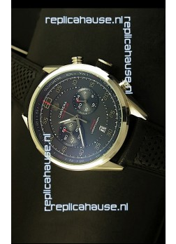 Tag Heuer Carrera Calibre 36 Flyback Black Dial Replica Watch - Quartz Movement