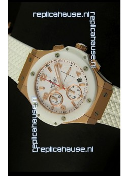 Hublot Big Bang Pink Gold Casing Swiss Watch 44MM - 1:1 Mirror Replica