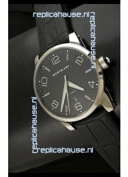 Mont Blanc Timewalker Swiss Automatic Watch in Black Dial - Ultimate Mirror Replica