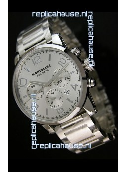 Mont Blanc Timewalker Ceramic Strap Inlays Watch in White - 1:1 Mirror Replica