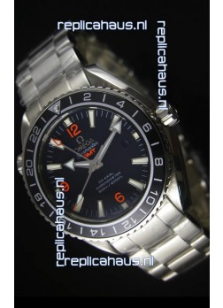 Omega Planet Ocean GMT Black Swiss Replica Watch - 1:1 Ultimate Mirror Edition
