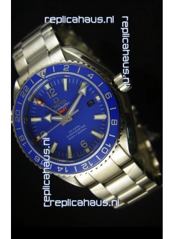 Omega Planet Ocean GMT Blue Swiss Replica Watch - 1:1 Ultimate Mirror Edition