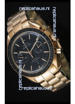 Omega Speedmaster Moon Watch Co-Axial Swiss Watch in Rose Gold - 1:1 Mirror Replica