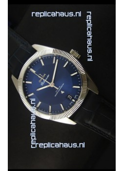 Omega Globemaster Co-Axial Swiss Dark Blue Dial Stainless Steel - 1:1 Mirror Replica Watch