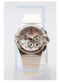 Omega Constellation Ladies Chronograph Replica Watch - 35MM