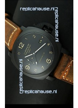 Panerai Luminor PAM441 GMT 1950 3 Days Power Reserve Swiss Watch in Ceramic Case