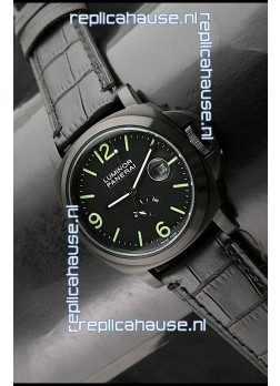 Panerai Luminor Power Reserve Japanese Automatic Watch in Black
