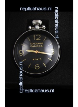Panerai Radiomir 8 Days PAM581 Table Clock Swiss Watch with Box and Watch Stand
