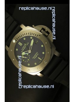 Panerai Luminor PAM371 Submersible GMT Titanium - 1:1 Mirror Replica Watch