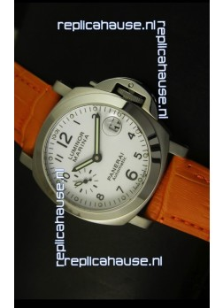 Panerai Luminor Marina PAM49 40MM Swiss Watch - Orange Strap