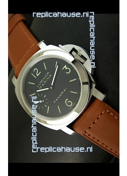 Panerai Luminor PAM111 Swiss Replica Watch - SuperLume Hour Sandwich Dial Markers