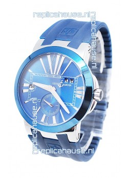 Ulysse Nardin Executive Dual Time Japanese Replica Blue Watch