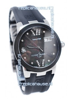 Ulysse Nardin Executive Dual Time Diamond Black Watch