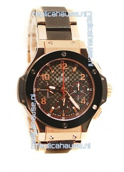 Hublot Big Bang Cappuccino Gold Swiss Replica Watch