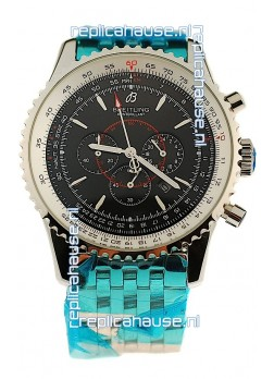 Breitling Montbrillant Japanese Replica Watch in Black Dial