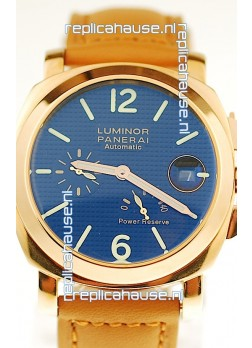 Panerai Luminor Marina Power Reserve Japanese Replica Gold Watch