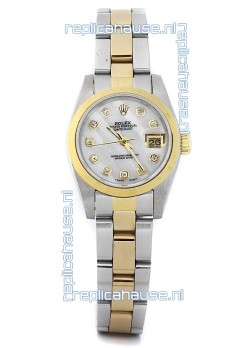 Rolex DateJust Two Tone Lady's Replica Watch