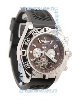 Breitling Chronograph Chronometre Japanese Tourbillon Watch in Brown Dial