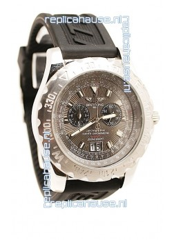 Breitling Chronograph Chronometre Replica Watch in Grey Dial