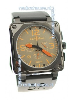 Bell and Ross BR01-94 Edition Japanese PVD Watch in Orange Markers