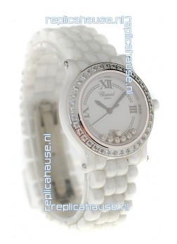 Chopard Happy Sport Ladies Japanese Ceramic Watch