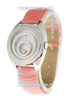 Chopard Happy Spirit Ladies Japanese Replica Watch in Pink Strap