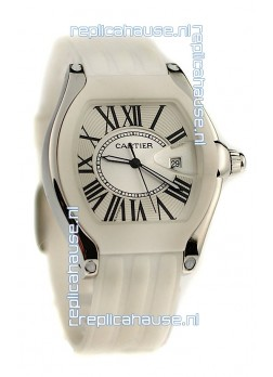 Cartier Roadster Japanese Replica Watch in White