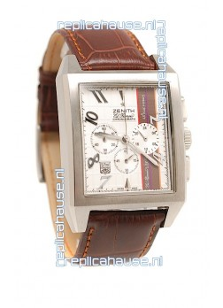 Zenith El Primero 40th Anniversary Chronograph Japanese Watch in White Dial
