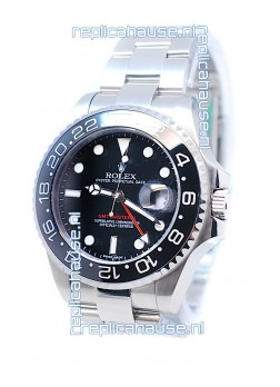 Rolex GMT Masters II 2011 Edition Swiss Replica Watch in Black Cerarmic Bezel