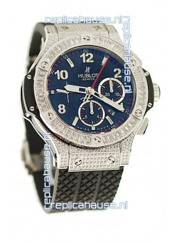 Hublot Big Bang Swiss Watch with Diamonds Embedded Case and Bezel