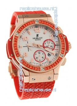 Hublot Gold Big Bang Tutti Fruitti Red Swiss Replica Watch