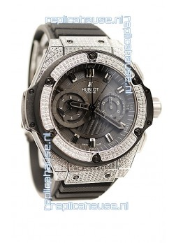 Hublot Gold Big Bang King Power Diamond Swiss Replica Watch