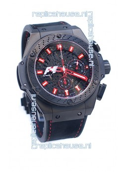 Hublot Big Bang F1 Edition King Power Swiss Replica Black Ceramic Watch