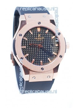 Hublot Classic Fusion Rose Gold Carbon Dial Watch