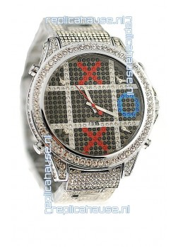 Jacob & Co Diamond Japanese Replica Watch in Black Dial