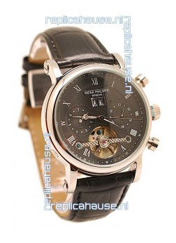 Patek Philippe Grand Complications Tourbillon Watch in Black Dial