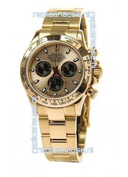 Rolex Daytona Cosmograph Swiss Replica Watch in Gold Plated