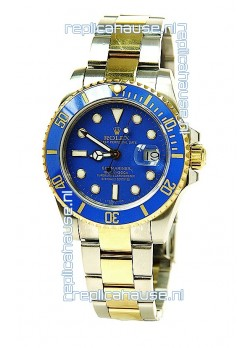 Rolex Submariner Two Tone Swiss Watch in Ceramic Bezel