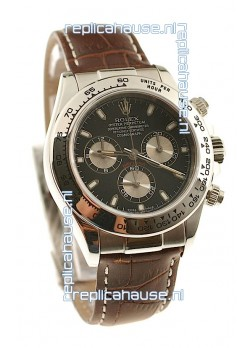 Rolex Daytona Cosmograph 2011 Edition Swiss Watch in Brown Leather Strap